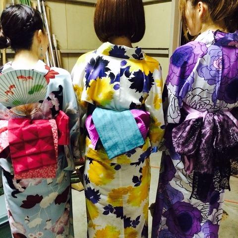 きものもたはんが教える。2019年の森田花火情報。きものもたはんで着付けした女性の写真